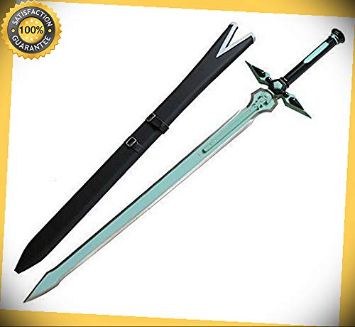 (Sword Art Online Kirito Kirigaya Kazuto 41'' Dark Repulser Sword with Scabbard perfect for cosplay outdoor camping)