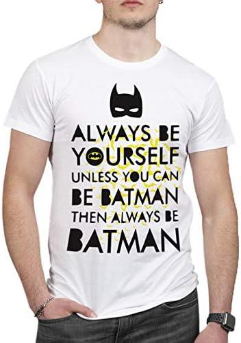 ULABL – Camiseta de Batman Be – 100% algodón orgánico – Hombre Blanco M: Amazon.es: Ropa y accesorios