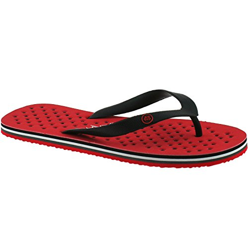9 uk Post Urban 44 43 Flip eu Mens Beach Flops Red Fresh Toe Sandals qxHCw16x