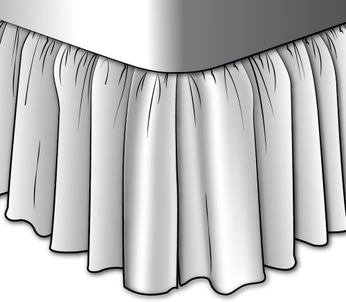 Gathered 15'' Bayside Spa Green Solid Cal King Bedskirt Cotton by Close to Custom Linens (Image #1)