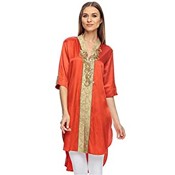 Sana'a Kayum Red Casual Kurta & Churidar Set For Girls