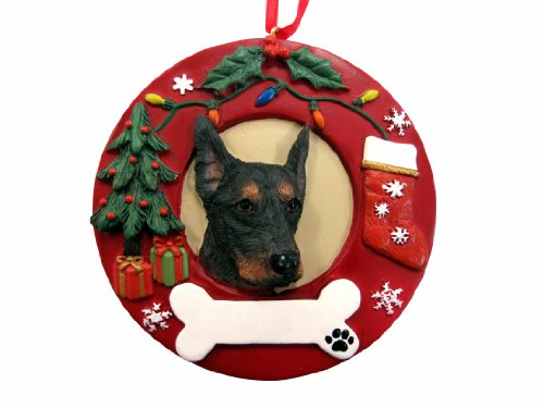 - E&S Pets Doberman Pinscher Personalized Christmas Ornament