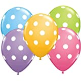 12 Polka Dot Balloons Bright Festive Colors (Assorted Colors)