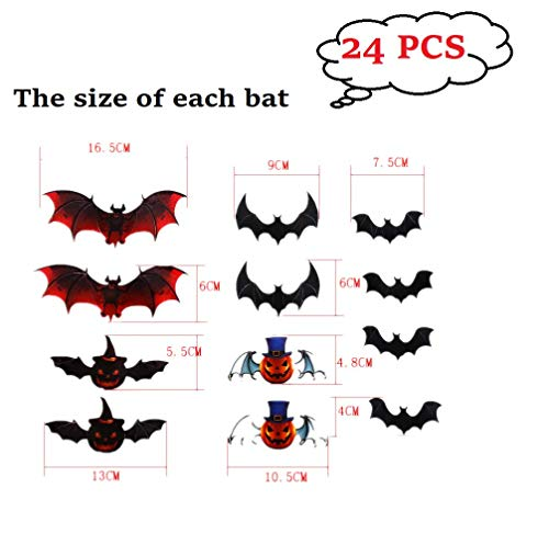 Amaonm 24pcs 3D Art DIY Bat Decor Wall
