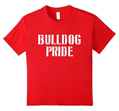 Kids Bulldog Pride T Shirt for any Sports Fan School Spirit Shirt 6 Red