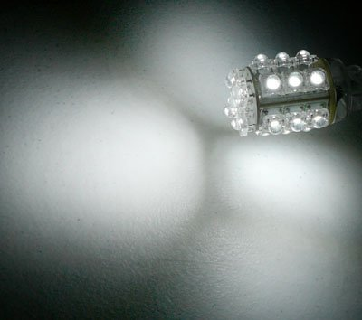 Pair of 3157 White 20 LED Hyper LED Light Miniature Bulbs Wide View Angle (2 bulbs per order)