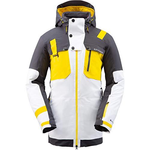 SPYDER TORDRILLO Homme Gore-Tex Primaloft Ski Veste – Blanc