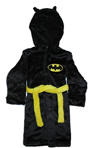 DC Comics Batman Toddler Boys' Hooded Robe, Black, 3T -