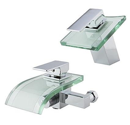 W61 Wasserfall Badewannenarmatur Armatur Badewanne Glas Design Bad Armatur Badewannen Armatur Wasserhahn Badewanne Designer Armatur Schwarz