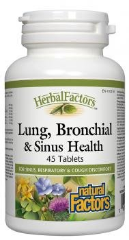 Lung, Bronchial & Sinus Health by Natural Factors, Natural Supplement for Respiratory Health and Easy Breathing, 45 tablets (45 servings)