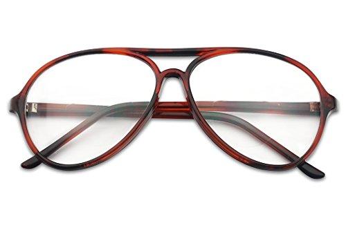 SunglassUP Large Retro Aviator Bifocals Reading Eye Glasses Magnification Strength + 1.00 - + 2.75 (Tortoise Frame (Bi-Focal), - Eyeglass Tortoise Frames Round Shell Large