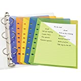Avery Mini Binder Pockets, Assorted Colors, Fits