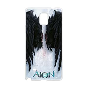Aion The Tower Of Eternity 33 funda Samsung Galaxy Note 4 caja funda del teléfono celular del teléfono celular blanco cubierta de la caja funda EVAXLKNBC30359
