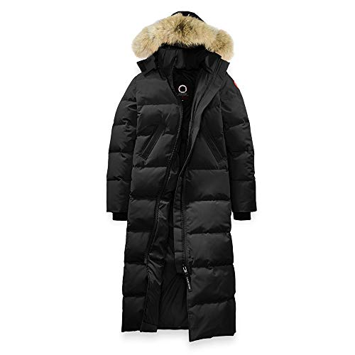 Women's Canada Mystique Winter Snow Long Long Black Duck Down Parka Coat -(XL)