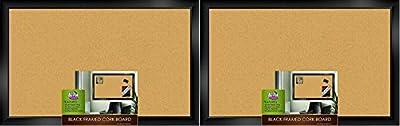 "The Board Dudes Black Framed Cork Board 35"" X 22"""