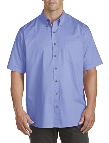 Harbor Bay by DXL Big and Tall Easy-Care Solid Sport (Bay Button)