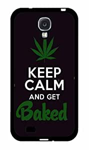 Keep Calm and Get Baked - Plastic Phone Case Back Cover Samsung Galaxy S4 I9500