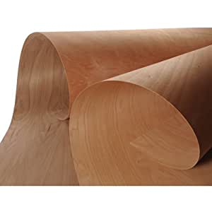 Edgemate Peel and Stick Unfinished Veneer Sheets, Hickory ...