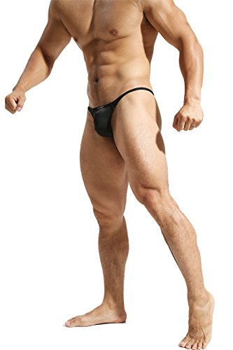 79930dc7bac8 Ouber Men's Gym Bodybuiding Sports Low Rise Briefs Pouch Thong Underwear  (Black,XL)
