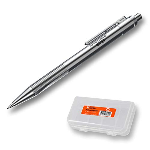 NITECORE NTP40 Titanium Alloy Mechanical Pencil with LumenTac Organizer