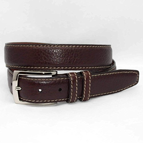 Torino Leather 1 3/8 in. Full Grain American Bison Feather Edge Belt