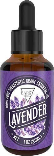 Lavender Essential Oil [Relaxing Scent] - Glass Amber Bottle with DropperOrganic Pure Therapeutic French for Diffuser, Aromatherapy, Headache, Pain, Sleep-Perfect for Candles & Massage (1-oz)