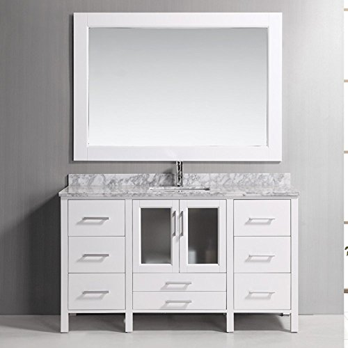 Stanton Single (Design Element Stanton Single Drop-in Sink Vanity Set with with White Finish, 60-Inch)