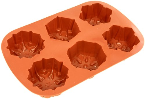 Paderno Non-Stick Silicone Mold, Cake, Snowflake (Silicone Non Stick Paderno)