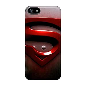 Scratch Resistant Hard Phone Cover For Iphone 5/5s (AxX6105CeSh) Support Personal Customs Lifelike Superman Pictures