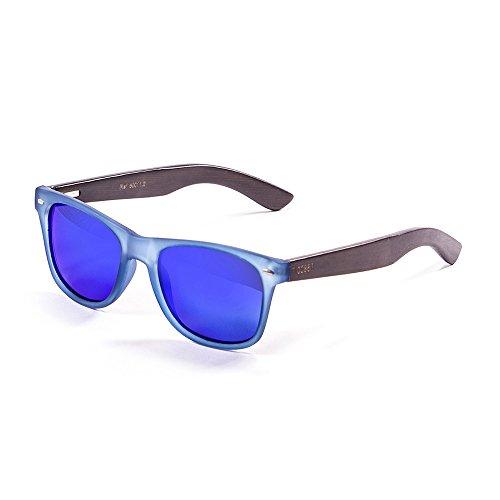 Ocean Sunglasses Beach Lunettes de soleil Matte Noir/Bleu Transparent/Revo Bleu ZVDHuLCc