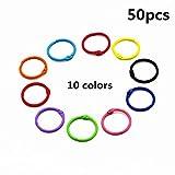 #8: Colored Loose Leaf Binder Rings Metal Book Rings 1 Inch, Multicolor, 50 Pieces