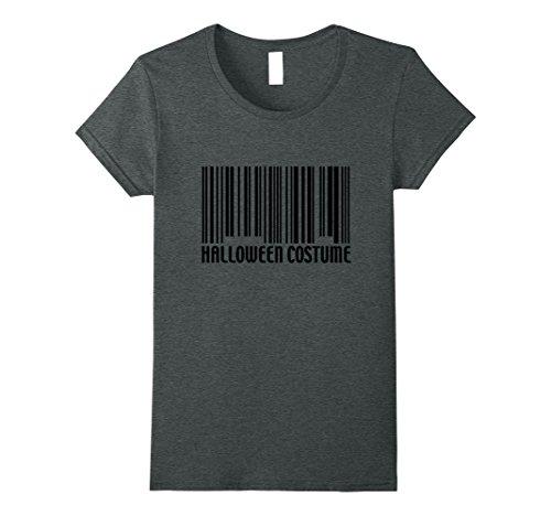Nerdy Couple Costumes (Womens Funny Generic Halloween Costume Barcode T-Shirt Medium Dark Heather)