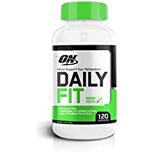 OPTIMUM NUTRITION Daily Fit Stimulant-Free Fat Burner for Men and Women, Weight Loss Support Pills, 120 Count