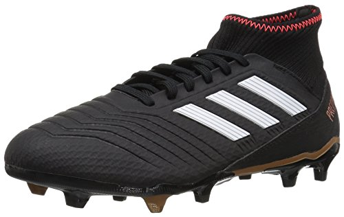 adidas ACE 18.3 FG Soccer Shoe, core Black/White/Solar red, 7 M US