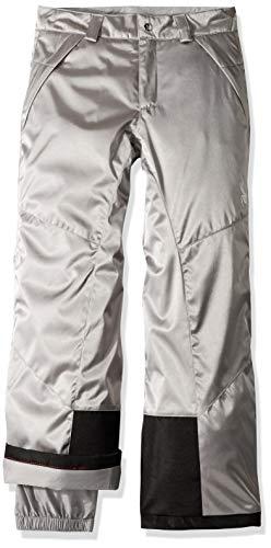 Spyder Girls' Olympia Ski Pant Regular Fit, Silver/Black, Si