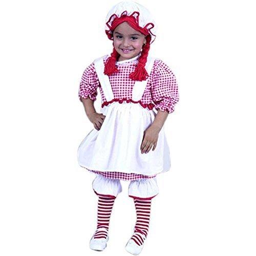 Child's Toddler Raggedy Ann Halloween Costume (2-4T) -