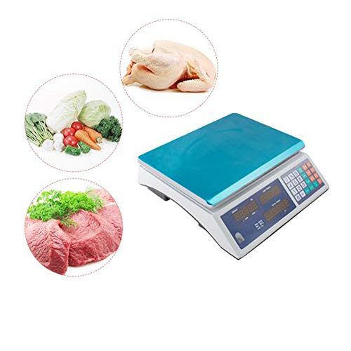 Zinnor Price Computing Scale 66lbs Digital Weight Scale Price Computing Retail Food Meat Scale Electric Commercial Food Meat Counting Weighting Scale with Dual LCD Display Auto Shut Off, 66lb x 0.01lb (Digital Price Computing Scale Acs 30 Manual)