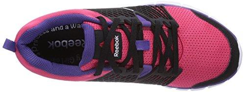Reebok ZQuick Dash - zapatillas de running de material sintético niña negro - Schwarz (Black/Blazing Pink/Sport Violet/White)