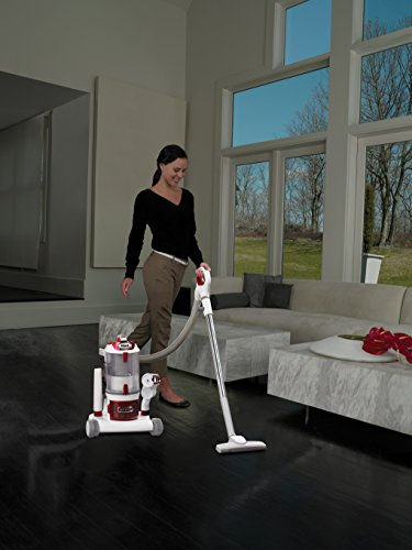 Shark Rotator Professional Upright Corded Bagless Vacuum for Carpet and Hard Floor with Lift-Away Hand Vacuum and Anti-Allergy Seal (NV501), White with Red Chrome