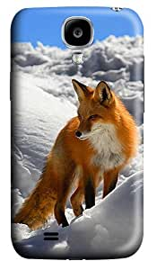 ICORER Fun Samsung Galaxy S4 Cases Winter Red Fox Animal Case Cover for Samsung Galaxy S4 I9500 Polycarbonate Hard Plastic