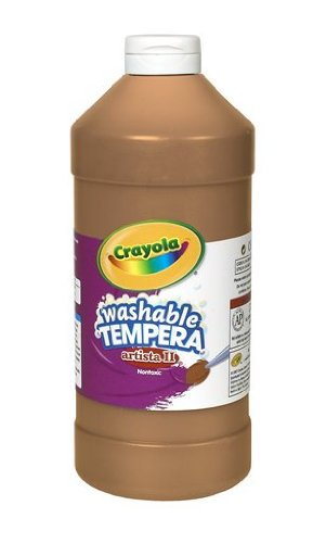 Crayola Tempera Washable Paint 32-Ounce Plastic Squeeze Bottle, Brown (Light Desk Crayola)
