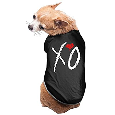 Pet The Weeknd XO Logo Dog Sweater Puppy Clothes