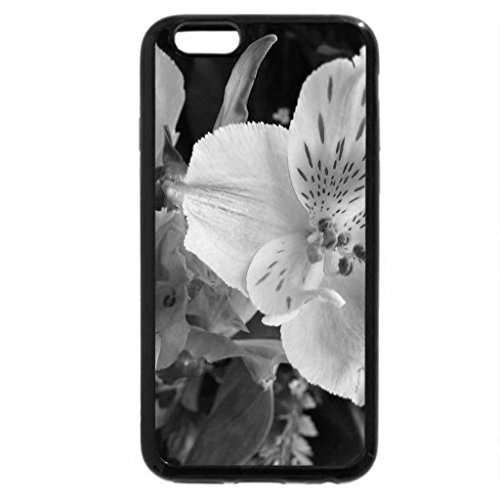 iPhone 6S Case, iPhone 6 Case (Black & White) - TWO FLOWERS