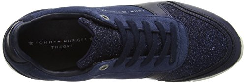 Tommy Sparkle Hilfiger Basses tommy Sneakers Sneaker Navy Femme Bleu 406 Light rxra1nw5F