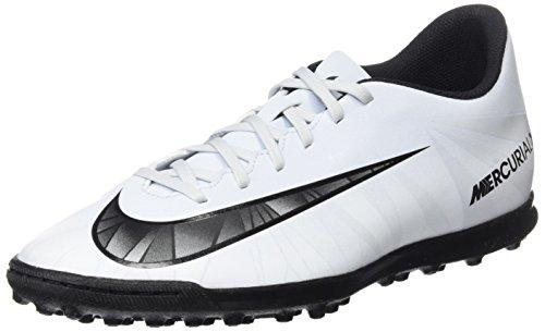 Nike Men MercurialX Vortex III Cr7 Tf Football Boots Nero/Bianco (Blue Tint/Black-white)