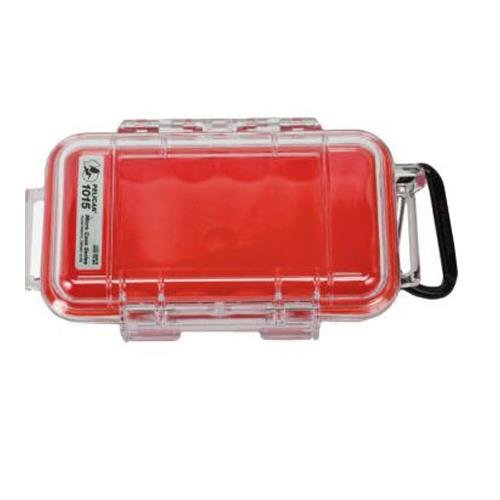 Pelican Products 1015-008-100 Pelican 1015-008-100 Micro Case with Clear Lid (Red)