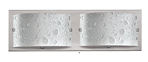 (Hinkley 5922BN-LED2 Contemporary Modern Two Light Bath from Daphne collection in Bronze/Darkfinish,)