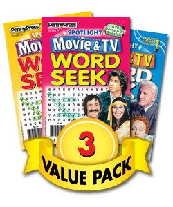 Word Magazine Puzzles Dell Search - Spotlight Movie & TV Word Seek-3 Pack
