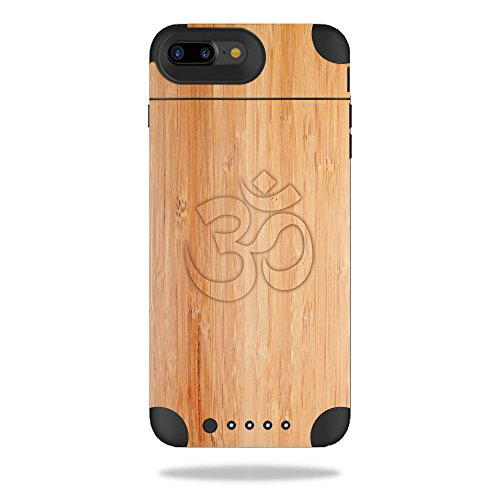 MightySkins Protective Vinyl Skin Decal Compatible with Mophie Juice Pack Air iPhone 7 Plus Case wrap Cover Sticker Skins Bamboo Ohm