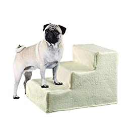 Etna Collapsible Pet Steps with Fleece Cover